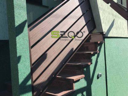 Balkon i schody z kompozytów SEQO Intensive